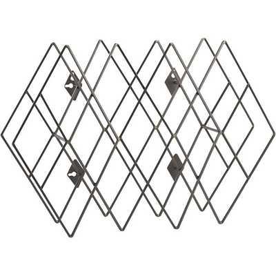 Accordian wall-mounted wine rack - CB2