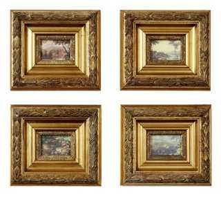 Miniature Heirloom Paintings, Set of 4 - One Kings Lane