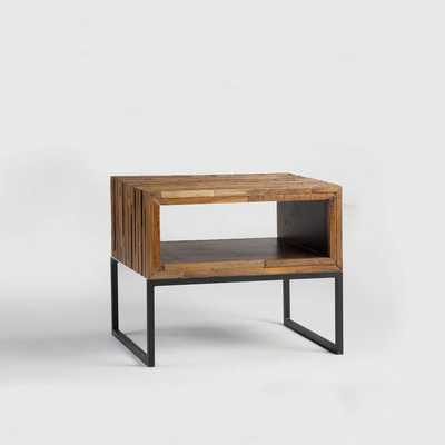 Mixed Wood Side Table - West Elm