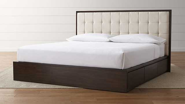 Hayden King Storage Bed - Crate and Barrel