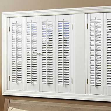"Faux-Wood Traditional Shutters – 4 Panels - 35-37"", 32""L - JC Penney"