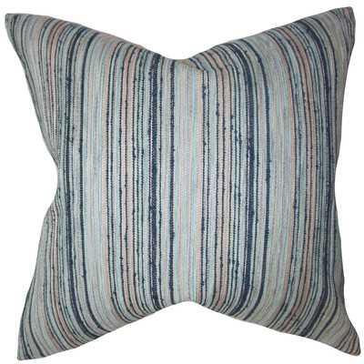 """Bartram Stripes Throw Pillow-Blue-18""""x18""""-With Insert - Wayfair"""