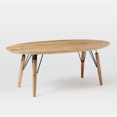 Graphica Oval Coffee Table - West Elm