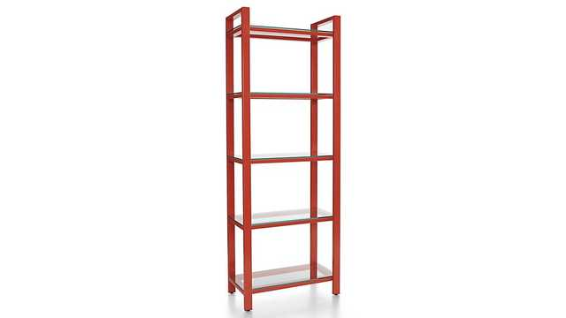 Pilsen Paprika Bookcase - Crate and Barrel