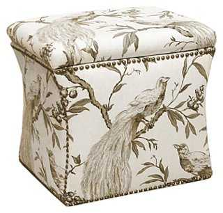 Merritt Storage Ottoman, Cream - One Kings Lane