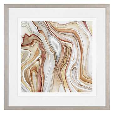 Watercolor Agate 2 - Limited Edition - 29.5''W x 29.5''H - Champagne frame with mat - Z Gallerie