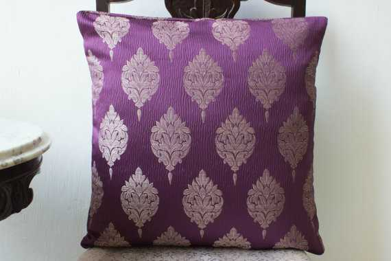 Pillow cover 16x16, Silver/Gray/Purple-Insert sold separately - Etsy