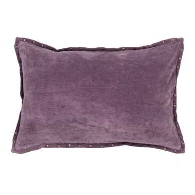 Handmade Solid Purple 16-inch Throw Pillow - Overstock