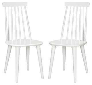 White Flynn Side Chair, Pair - One Kings Lane