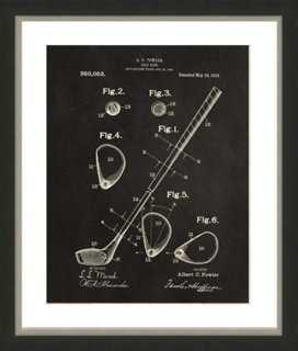 "Golf Patent Print - 18"" x 22"" - Framed - One Kings Lane"