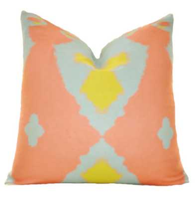 Ikat Throw Pillow - Beach Pillow - Summer Pillow - Etsy