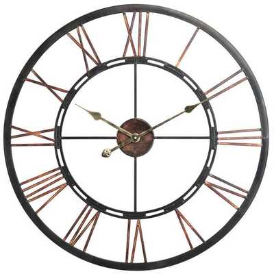 'Declan' Aged Copper and Black Wall Clock - Overstock
