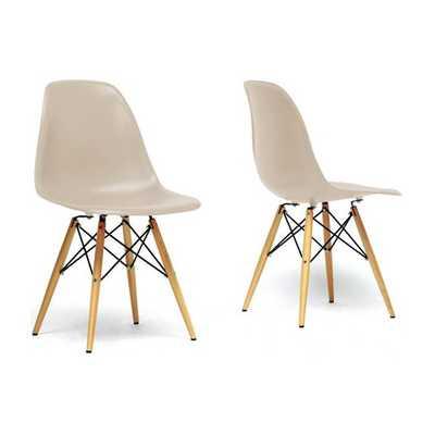 Azzo Shell Side Chair - Beige - AllModern