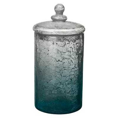 Silver and Blue Decorative Jar - Target