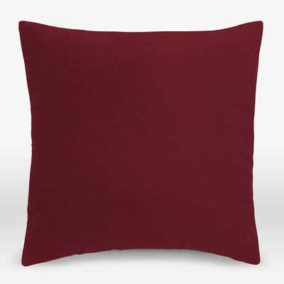 """Upholstery Fabric Pillow Cover - Marled Microfiber-Cardinal-18""""x18""""-No Insert - West Elm"""