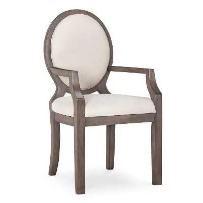 Morris Oval Back Dining Chair with Arms - Gray - Target