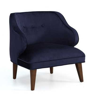 Retro Navy Curved Arm Accent Chair - Overstock