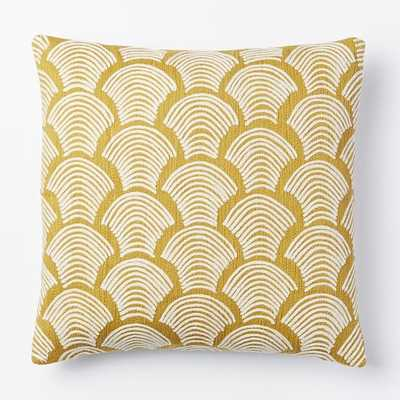 "Crewel Deco Shells Pillow Cover - Horseradish - 18""Sq. - Insert sold separately - West Elm"