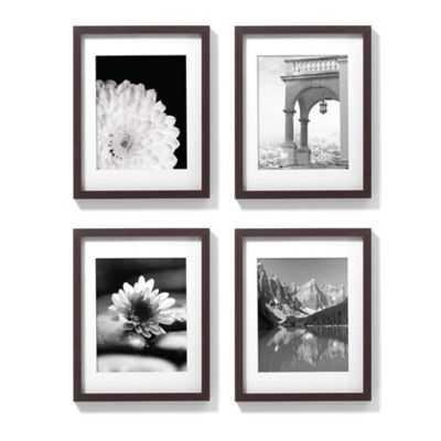 11-Inch x 14-Inch Gallery Frames in Espresso (Set of 4) - Bed Bath & Beyond