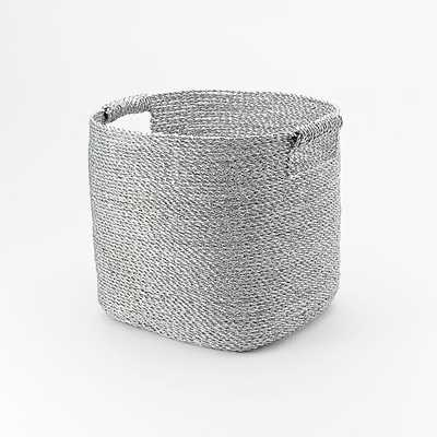Metallic Woven Storage Basket - West Elm