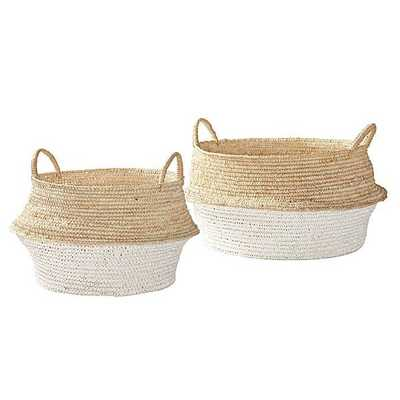 Round Belly Baskets – Set Of 2 - Domino