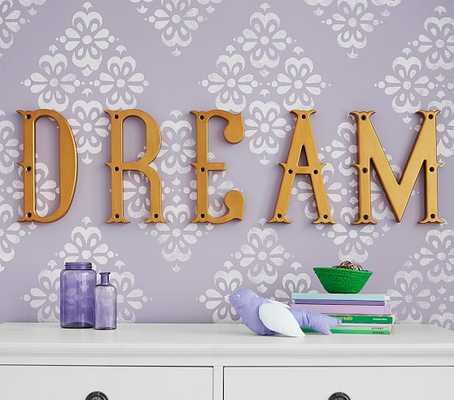 """""""Dream"""" Decorator Letter Set - Pottery Barn Kids"""