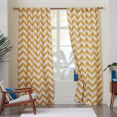 """Cotton Canvas Zigzag Curtain- 96"""" - West Elm"""