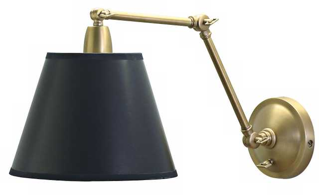 Beragamo Black Shade Plug-In Style Swing Arm Wall Lamp - Lamps Plus