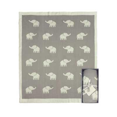 Weegoamigo Knitted Elephant Baby Blanket - Giggle