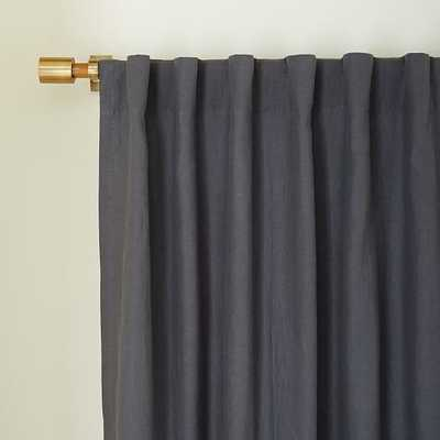 Belgian Linen Curtain - Slate - West Elm