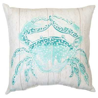 """Outdoor Pillow - Turquoise Crab - Thresholdâ""""¢-17'5""""x17'5""""-Insert - Target"""