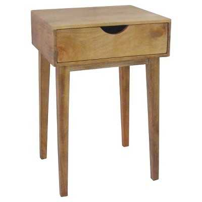 Mid-Century One-Drawer Accent Table - Target