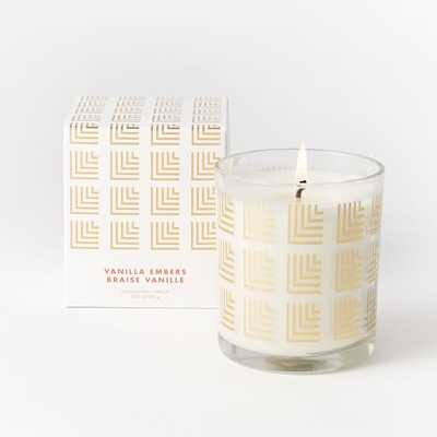 Glass Decal Scented Candle - Tumbler - Squares - West Elm