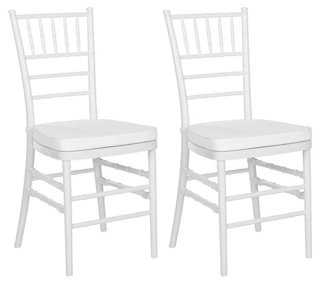 White Grace Side Chairs, Pair - One Kings Lane