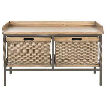 Safavieh Noah Wooden Storage Bench - Overstock