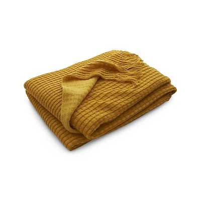 Lark Yellow Throw - Crate and Barrel