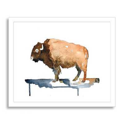 """Minted for west elm - Native Bison - 19""""x16"""" - Framed - West Elm"""