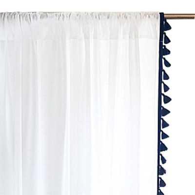 "French Tassel Window Panel- 96"" - Domino"
