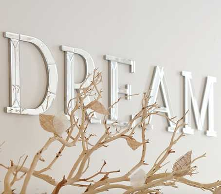 Mirrored Wall Letters, Dream - Pottery Barn Kids