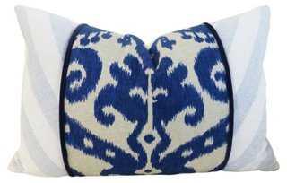 Ikat Cotton-Blend Pillow - One Kings Lane