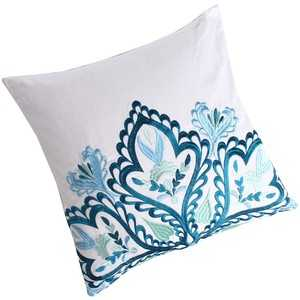 """Blissliving Home Nyla Pillow-18""""Sq, Multicolor Down insert included - casa.com"""