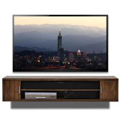 WALL MOUNT TV STAND - TERRA MAR CLOVE - woodwaves.com