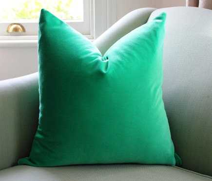kelly Velvet Cushion Pillow Cover - Green - 20x20 - With Insert - Etsy