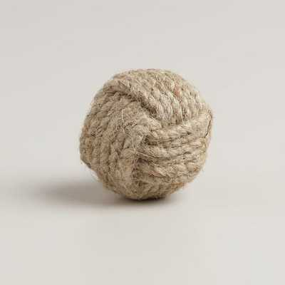 Round Ball Jute Knobs, Set of 2 - World Market/Cost Plus