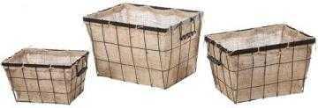 BURLAP STORAGE BASKETS - SET OF 3 - Home Decorators