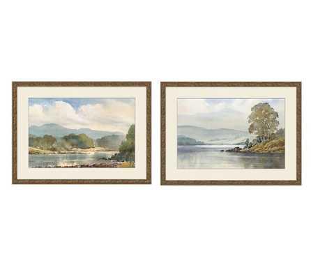"Summer Plein Air Framed Print - Set of 2 - 26.5"" x 19.5""- Antique gold finish frame - Pottery Barn"