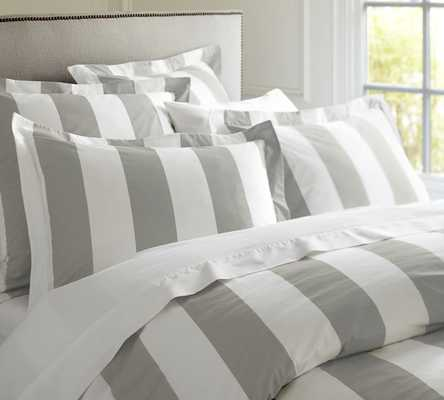 PB CLASSIC STRIPE 400-THREAD-COUNT DUVET COVER - Pottery Barn