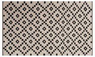 Blakely Flat-Weave Rug, Ivory/Black - 5' x 8' - One Kings Lane