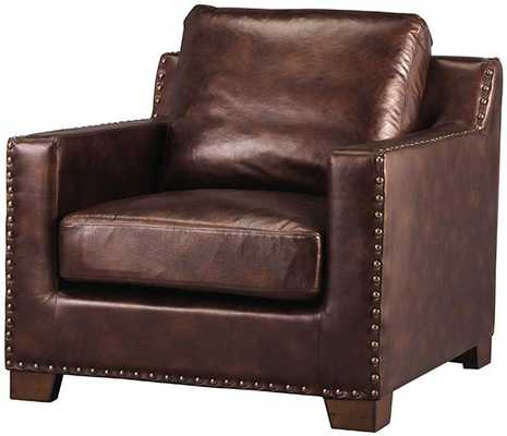 GARRISON CHAIR - Bonded Leather Brown - Home Decorators