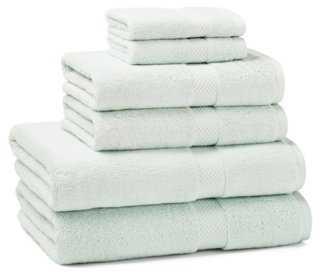 6-Pc Towel Set, Seaglass - One Kings Lane